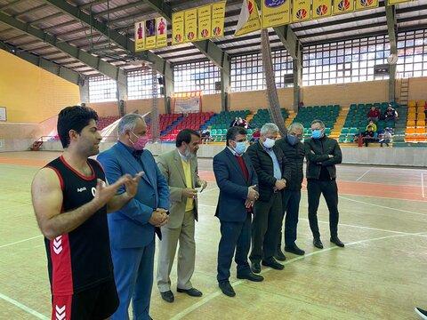 حضور سرپرست بهزیستی خراسان رضوی در محل تمرین تیم بسکتبال ناشنوایان