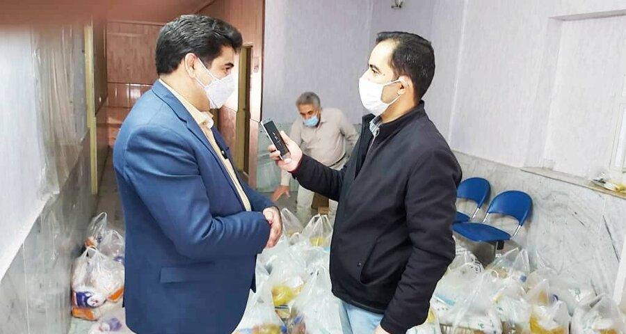 شهریار| حمایت از مددجویان بهزیستی در ایام همه گیری کرونا