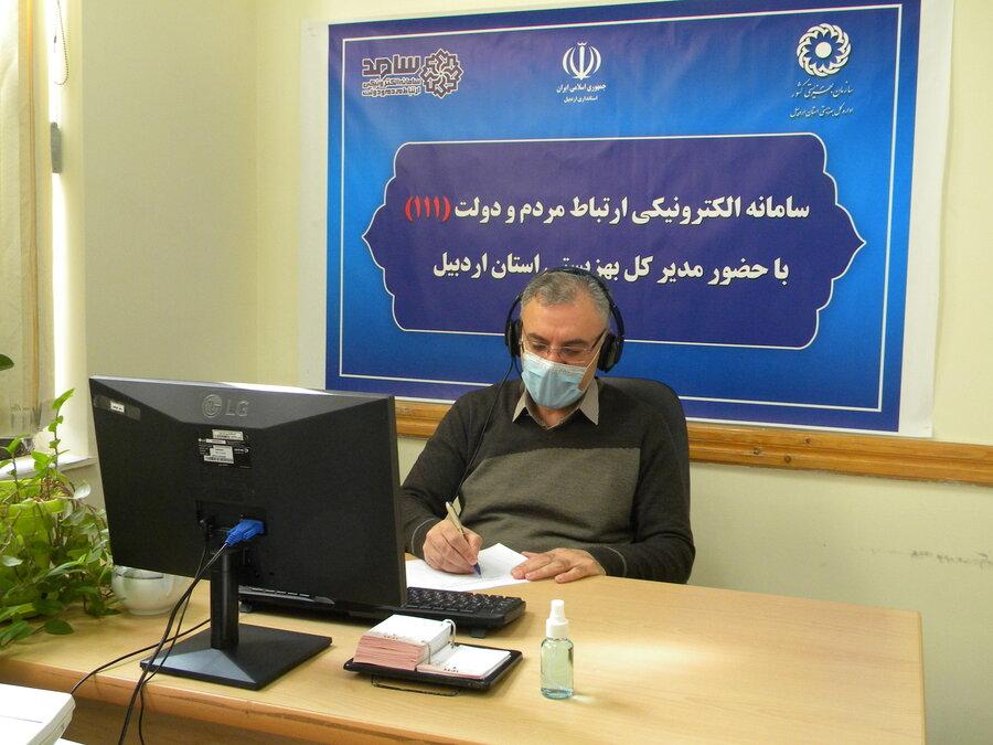 ارتباط مستقیم مدیر کل بهزیستی استان با جامعه هدف از طریق سامد
