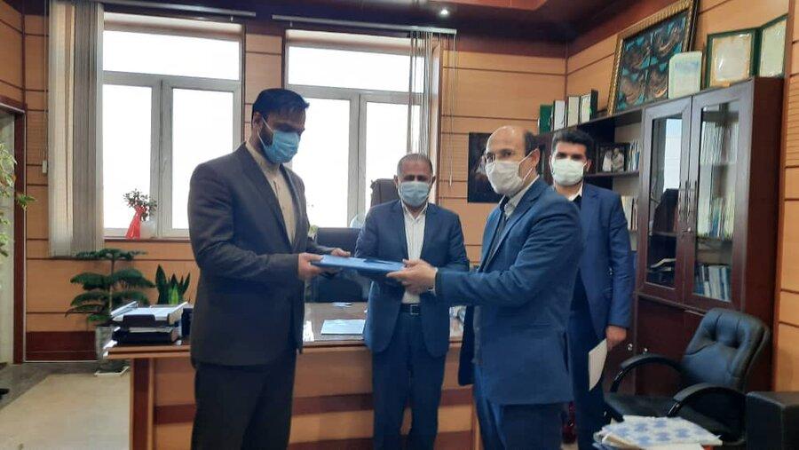 فردیس | اهداء لوح سپاس مدیر کل بهزیستی البرز به دادستان شهرستان فردیس