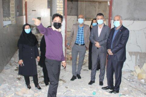 گناوه|گزارش تصویری بازدید از ساختمان در حال احداث مرکز مراقبتی بیماران اعصاب و روان زنان سرای مهر