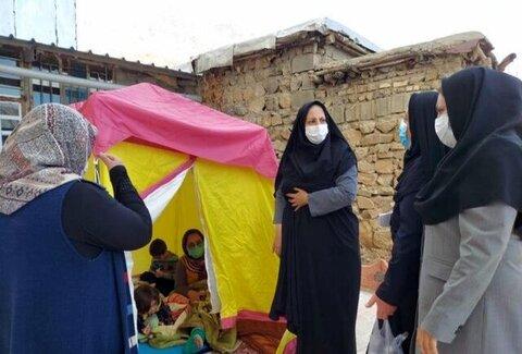 بررسی وضعیت زنان و کودکان آسیب دیده از زلزله سی سخت