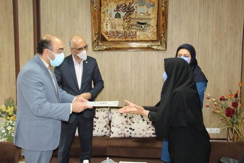 مهدیشهر ا آیین تکریم و معارفه سرپرست جدید شهرستان