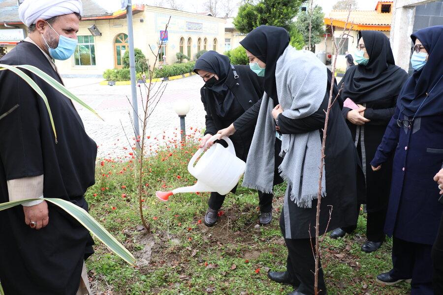 کاشت نهال به مناسبت ۱۵ اسفند روز درختکاری