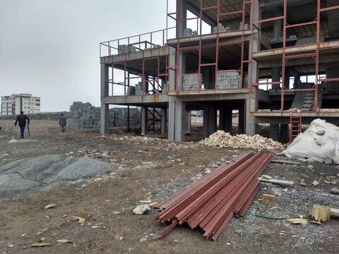 گزارش تصویری / بازدید از ساختمان در حال احداث اورژانس اجتماعی اسکو