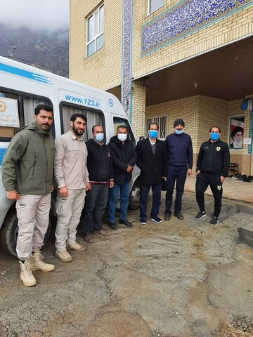 دیداربا اعضا ٕ گروه جهادی استان مازندارن درخصوص زلزله شهرستان دنا
