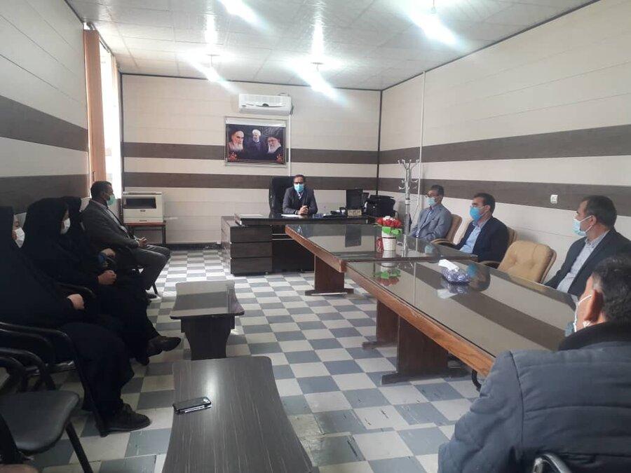 دیدار مدیر کل بهزیستی استان و هیئت همراه با مسئولین و کارکنان بهزیستی چرام