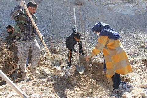 کاشت درخت توسط کودکانکار