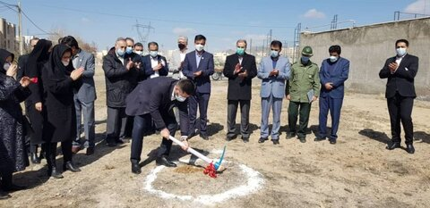 گزارش تصویری | ساختمان موسسه خیریه ی مهر یزدان کلنگ زنی شد