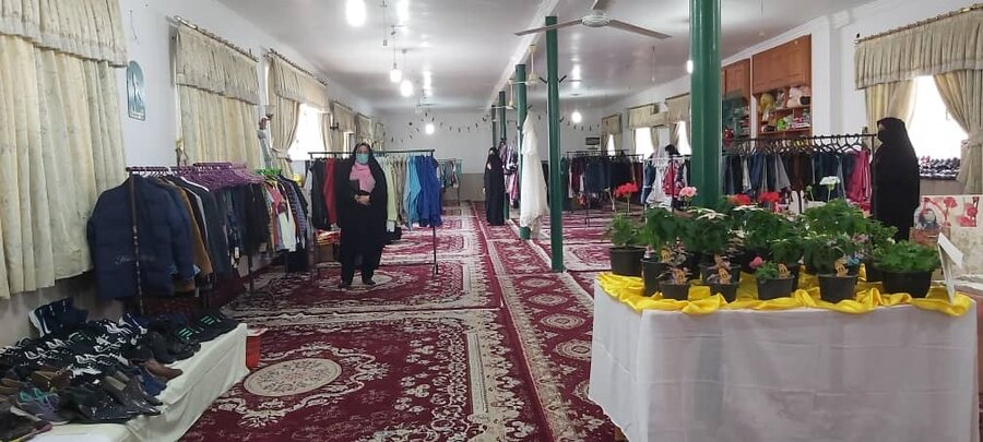 علی آباد کتول | افتتاح نمایشگاه بهاره ویژه مددجویان بهزیستی