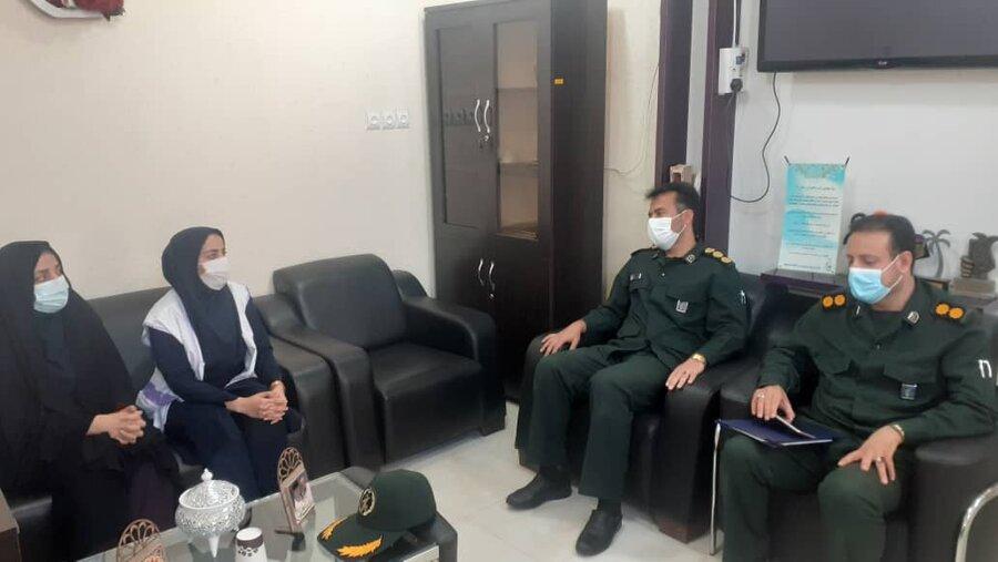 تنگستان|نشست هم اندیشی سپاه تنگستان با بهزیستی  برگزار شد