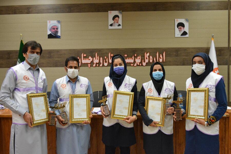 مددکاران برتر اورژانس اجتماعی استان تجلیل شدند