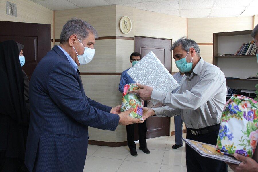تقدیر از کارکنان فعال در حوزه نماز بهزیستی خوزستان