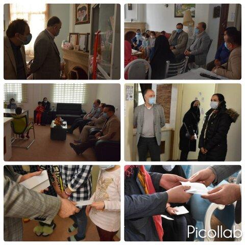 ساوجبلاغ | دیدار فرماندار شهرستان ساوجبلاغ و فرزندان بهزیستی