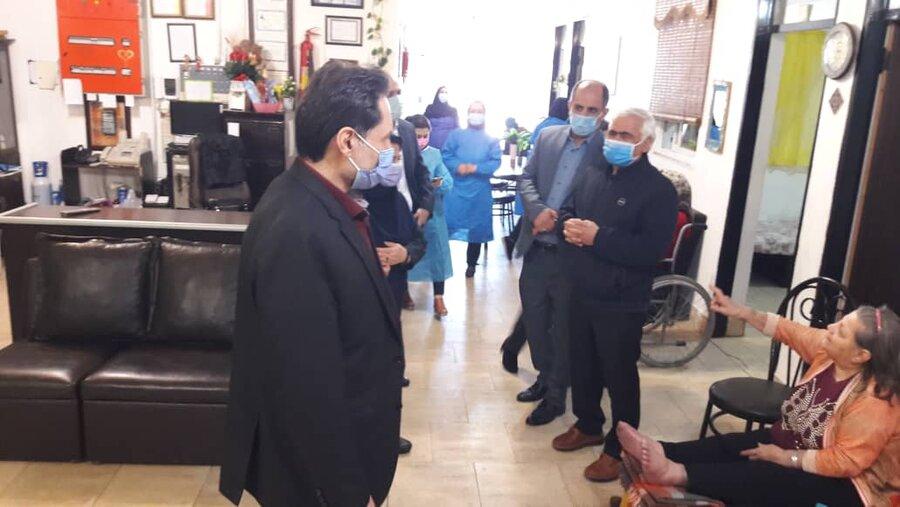 بازدید نوروزی مدیرکل بهزیستی گیلان از مرکز سالمندان سرای مریم