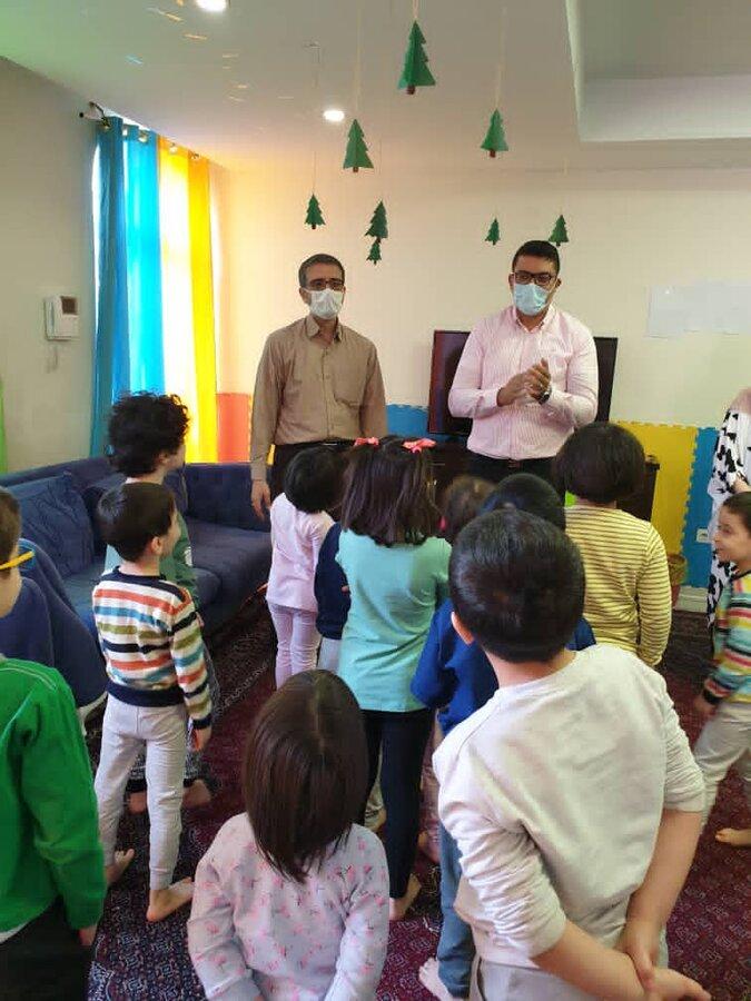 حضور مدیرکل کودکان و نوجوان سازمان بهزیستی در خانه های کودکان استان تهران