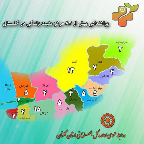 آدرس مراکز مثبت زندگی استان گلستان