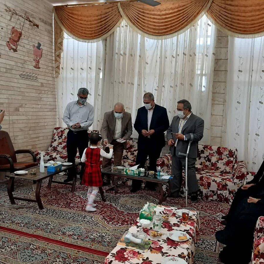 بازدید نوروزی مدیرکل بهزیستی استان یزد از مراکز نگهداری کودکان بی سرپرست و بدسرپرست بهزیستی میبد