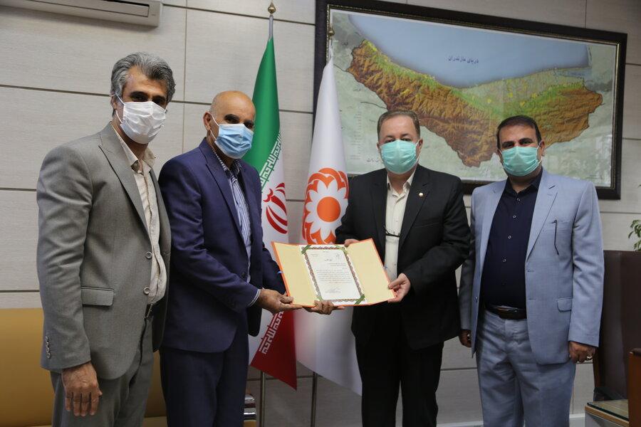 تقدیر رئیس انجمن ناشنوایان استان مازندران از مدیرکل بهزیستی استان