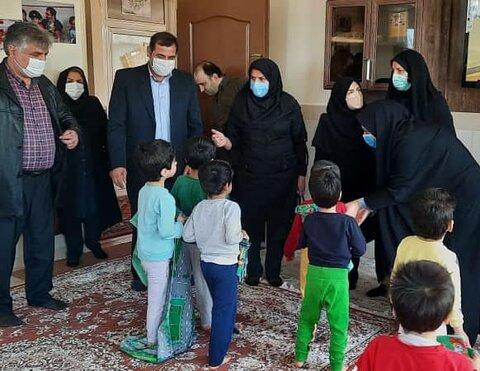 گزارش تصویری| لحظه های آخر سال با کودکان و مربیان شیرخوارگاه تبریز