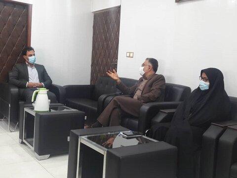 دیدار سرپرست بهزیستی هرمزگان با فرماندار شهرستان رودان