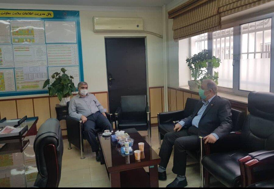 دیدار مدیرکل بهزیستی مازندران با رئیس مرکز بهداشت و معاون بهداشتی دانشگاه علوم پزشکی استان