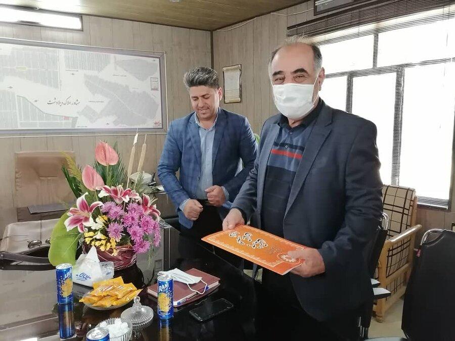 ملارد|  تقدیر بهزیستی از معتمد شورای مشارکتهای مردمی شهرستان