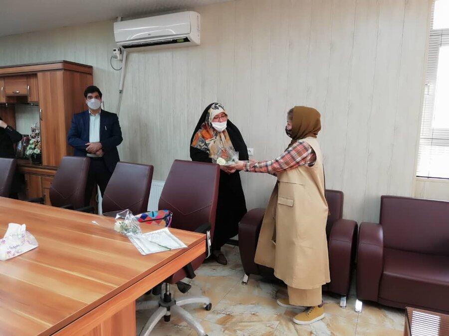 شهریار| تقدیر سرپرست بهزیستی شهرستان از خیر اقلام آموزشی