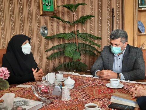 گزارش تصویری/ دیدار و گفتگوی مدیرکل بهزیستی آذربایجان شرقی با فرماندار شهرستان اهر