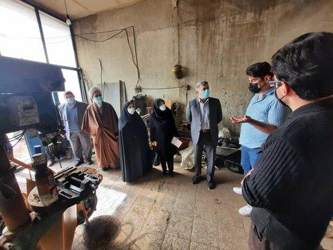 گزارش تصویری/ بازدید مدیرکل بهزیستی استان و فرماندار شهرستان اهر از کارگاه فعال حمایتی