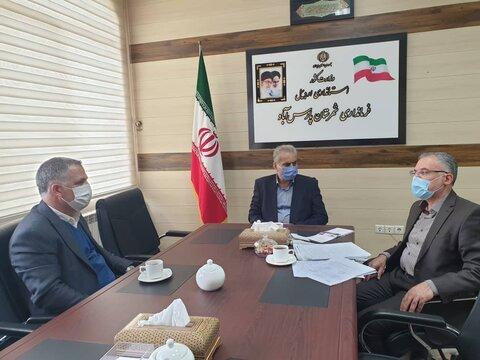 دیدار مدیرکل بهزیستی استان اردبیل با فرماندار شهرستان پارس آباد