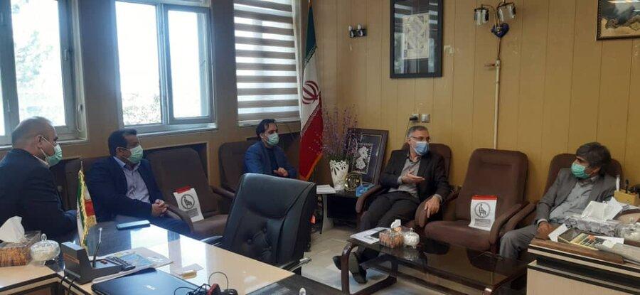 دیدار مدیرکل بهزیستی استان اردبیل با فرماندار شهرستان بیله سوار
