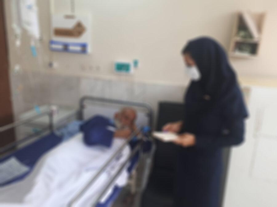 گزارش اداره کل بهزیستی استان خوزستان در خصوص رسیدگی به سالمند رها شده در اهواز