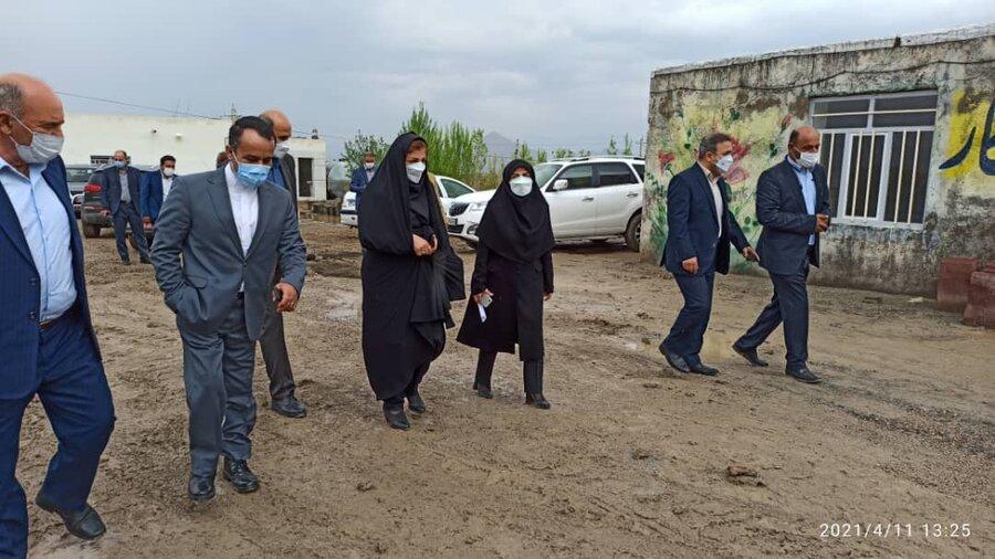 گزارش تصویری/  بازدید مدیرکل بهزیستی آذربایجان شرقی از شرکت اشتغال زایی شهرستان جلفا