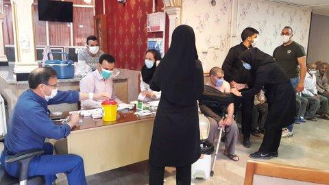 آمار و اطلاعات دوز دوم واکسیناسیون مراکز سالمندان استان
