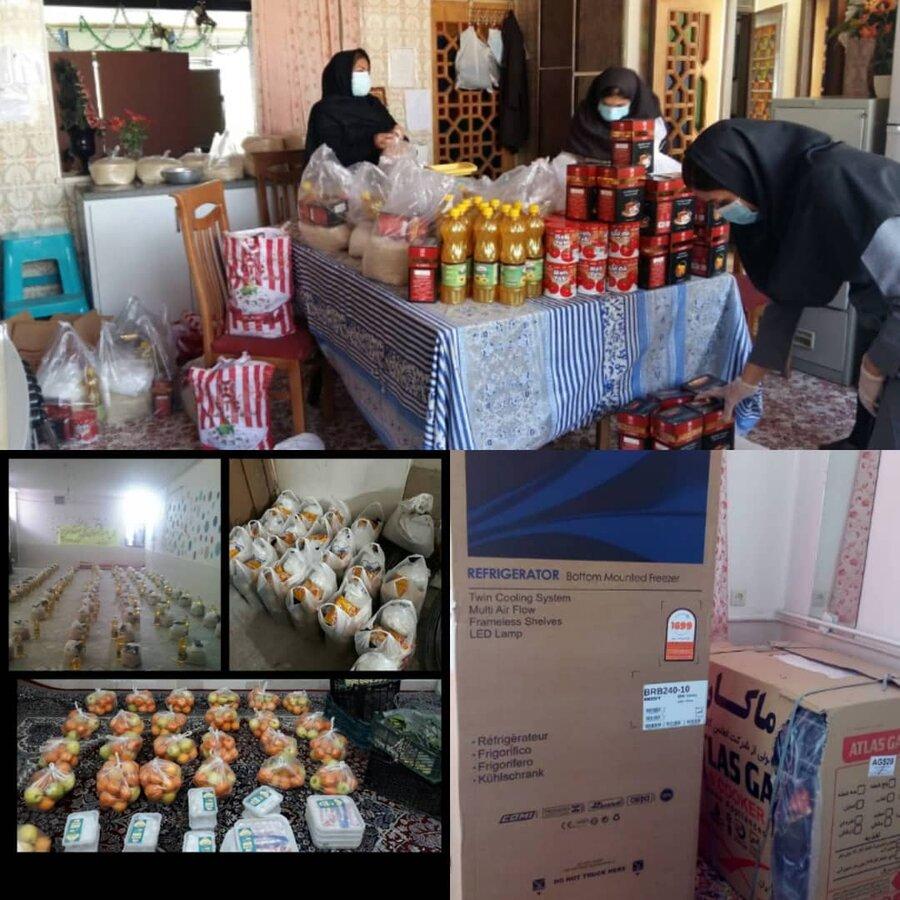 فارس| آباده| توزیع ۱۳۰۰ بسته معیشتی