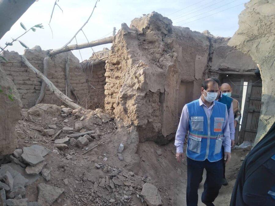 نماینده رئیس سازمان بهزیستی کشور از منازل مددجویان در مناطق زلزله زده شهرستان گناوه بازدید کرد