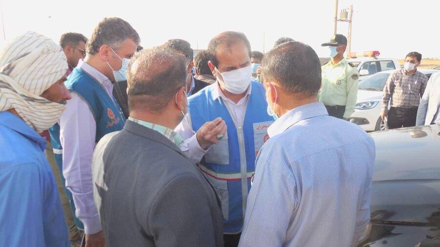 نماینده رئیس سازمان بهزیستی با فرماندار گناوه دیدار کرد