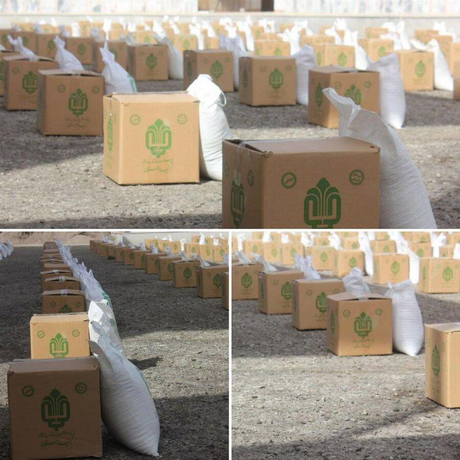 رشتخوار | توزیع ۲۸۰ بسته سبد غذایی بین جامعه هدف بهزیستی رشتخوار
