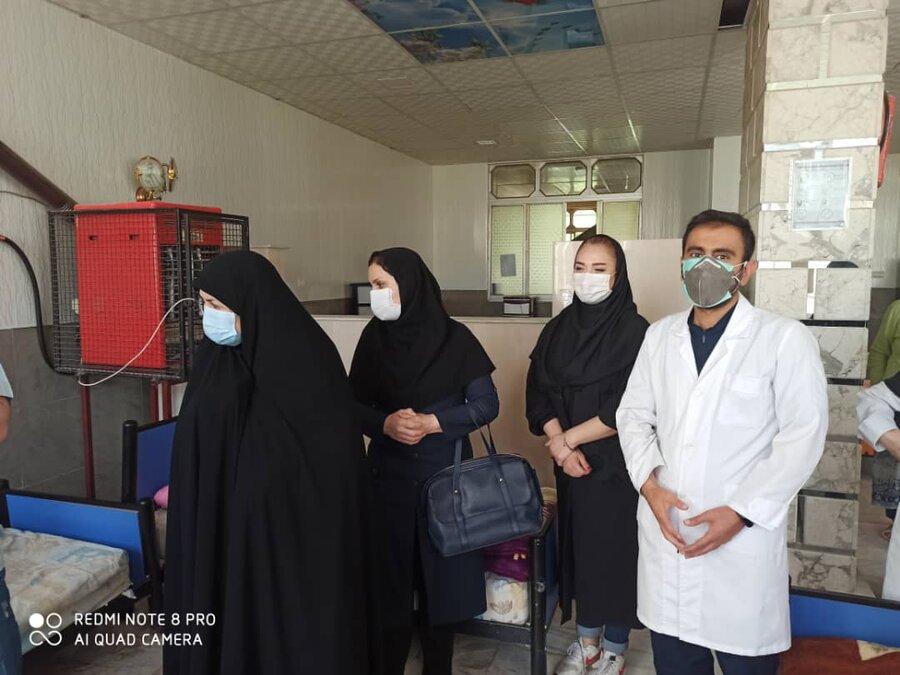 واکسیناسیون سالمندان مراکز نگهداری شبانه روزی بهزیستی در کرمانشاه