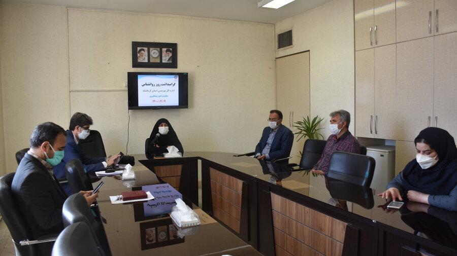 نشست ویدئو کنفرانس مدیر کل بهزیستی استان کرمانشاه بامدیران وکارشناسان بهزیستی شهرستان به مناسبت روز روانشناس