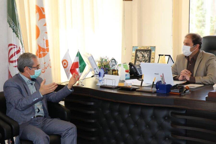 دیدار  مدیر اجرایی موسسه آموزشی عالی آفاق آذربایجان غربی با مدیرکل بهزیستی استان