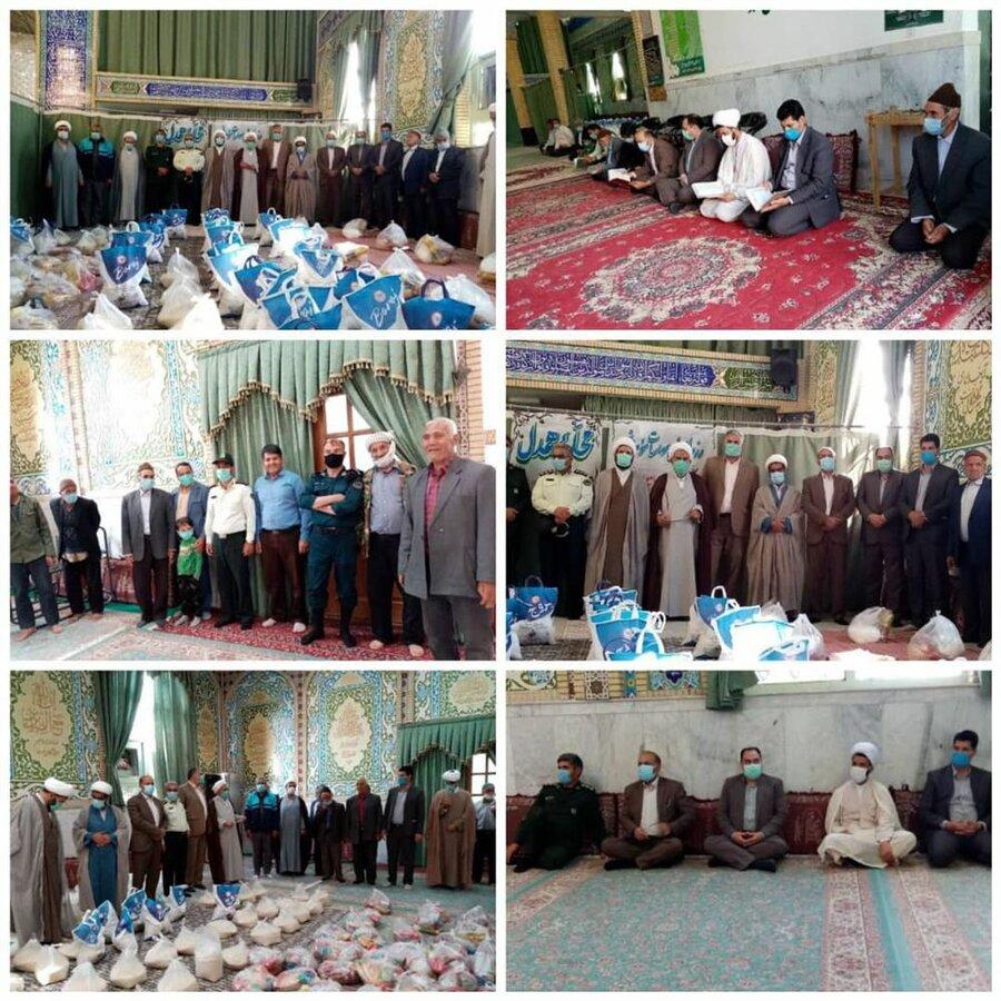 رشتخوار   توزیع ۲۵۰ بسته معیشتی بین نیازمندان روستای فتح آباد رشتخوار