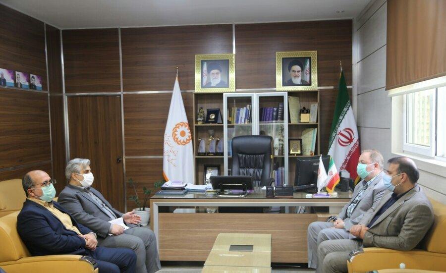 دیدار رئیس دانشگاه پیام نور مازندران با مدیرکل بهزیستی استان