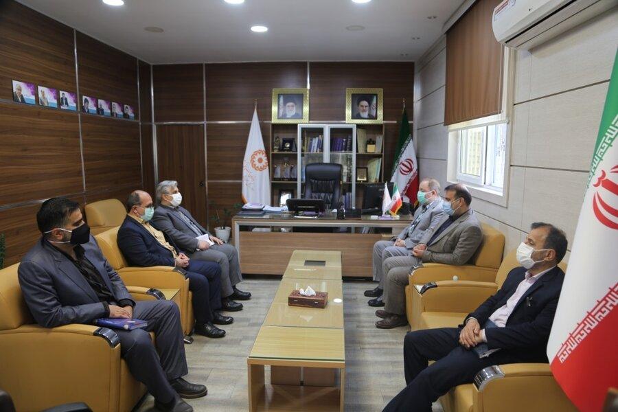 دیدار رئیس دانشگاه پیام نور مازندران با مدیرکل بهزیستی
