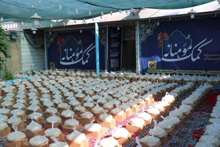 اندیمشک|توزیع ۱۷۰۰ بسته معیشتی در پویش ضیافت همدلی رمضان