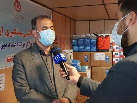 گزارش تصویری از توزیع اقلام بهداشتی در مراکز اقامتی بهبود  و بازتوانی معتادین