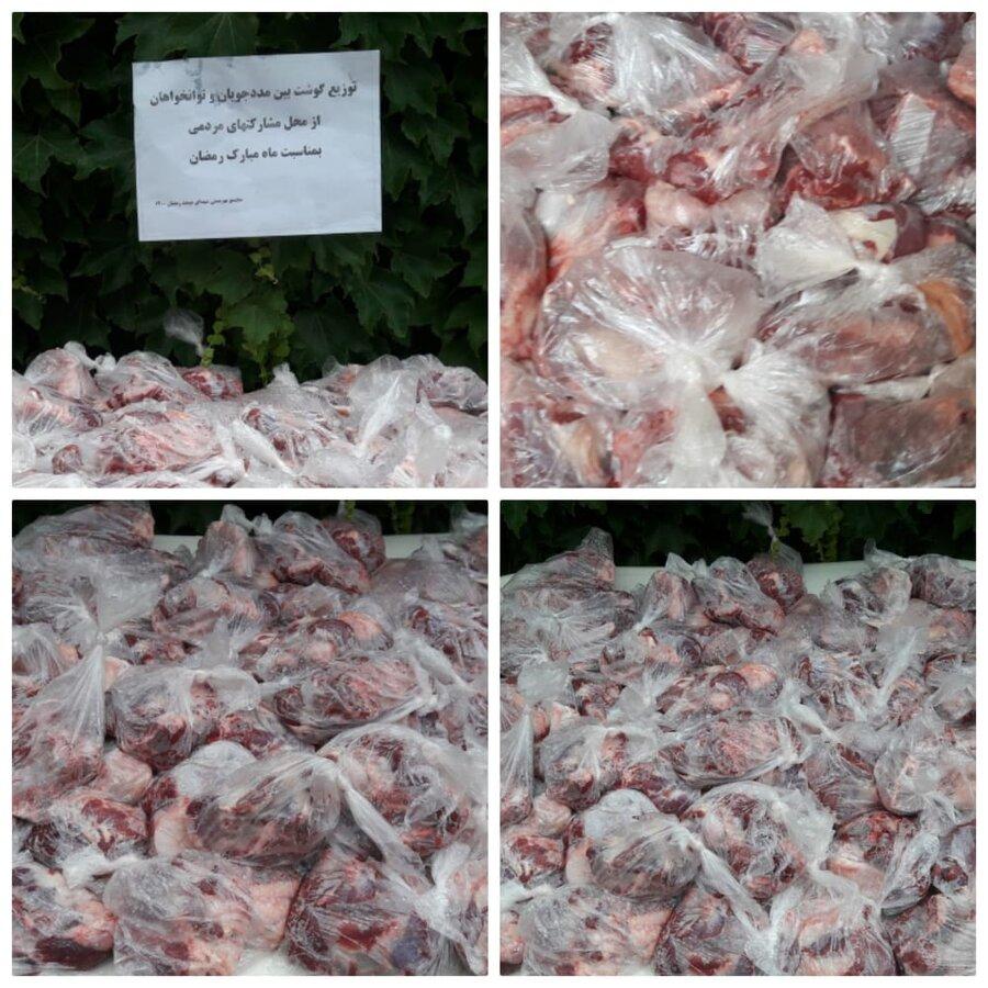 فارس | فیروزآباد | توزیع گوشت بین گروههای هدف تحت پوشش