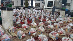 سیمرغ|توزیع ۱۵۰ بسته سبد معیشتی ماه مبارک رمضان بین مددجویان شهرستان سیمرغ