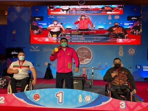 پیام تبریک مدیرکل بهزیستی و رئیس هیئت جانبازان و معلولین گیلان در پی قهرمانی پاراوزنه بردار لنگرودی